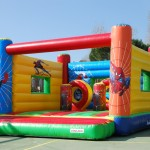 Castell inflable- botty spiderman