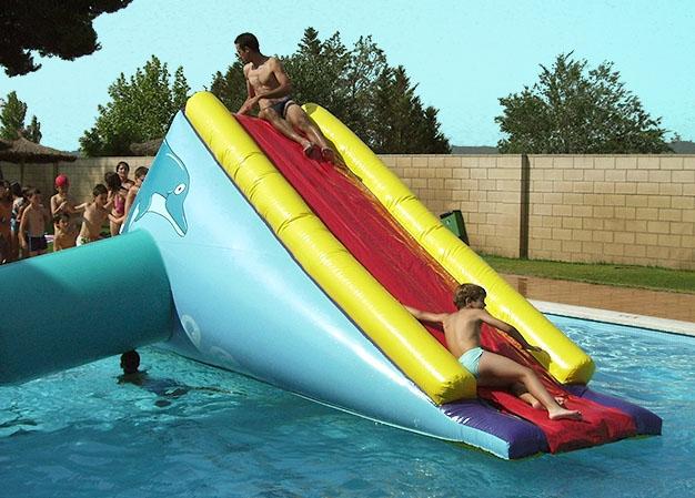 Hinchable tobog n delf n acu tico mobilparc - Tobogan hinchable para piscina ...